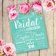 Bridal shower luncheon invitation Template