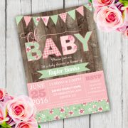 Shabby Chic Baby Shower Invitation Template