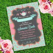 Tea Party Girl Birthday Invitation Template
