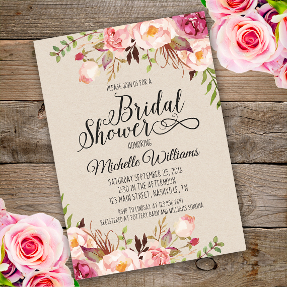 bridal shower invitation template edit with adobe reader