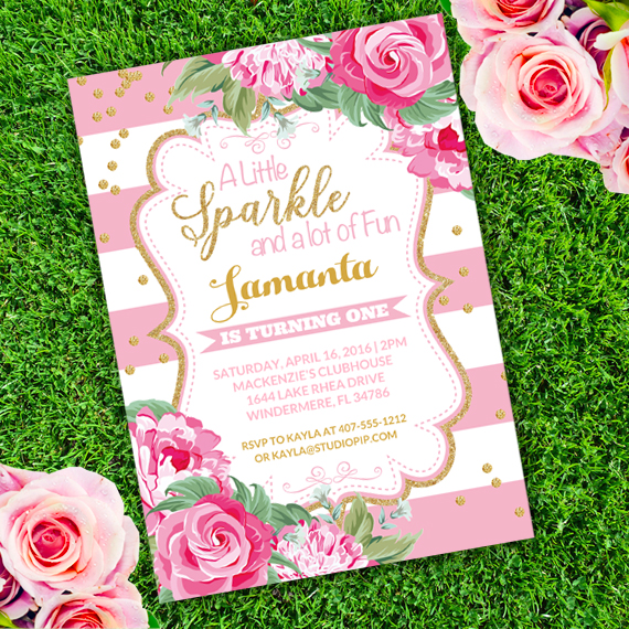 girl birthday invitation template