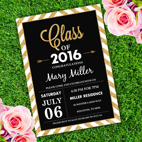 Graduation Invite Template  BesikEightyCo