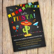 Mexican Birthday Party invitation template