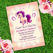 Horse Western Birthday Invitation Template