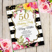 Anniversary Birthday Party Invitation Template