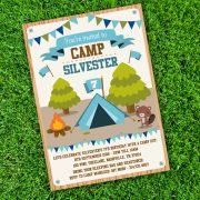 Camping Tent Party Invitation Template