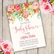 Whimsical Baby Shower Invitation template