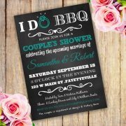 DO BBQ COUPLE'S SHOWER INVITATION