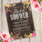 Simply Rustic Bridal Shower Invitation Template