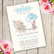 Elephant baby shower invitation template
