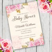 Whimsical Floral baby Shower Invitation Template
