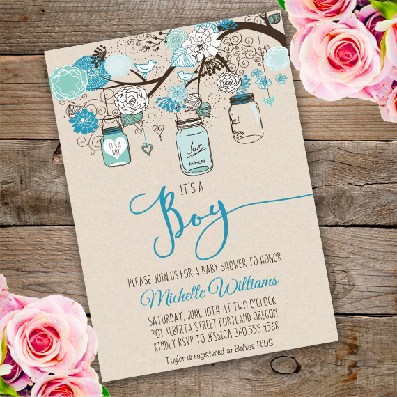 Mason jars baby shower invitation template edit with adobe mason jars baby shower invitation template edit with adobe reader mason filmwisefo
