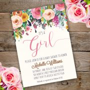 It's a Girl Baby Shower invitation eat with adobe reader