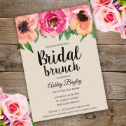 Bridal Shower Bruch Invitation template