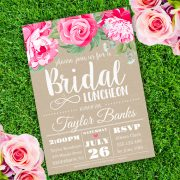 bridal luncheon invitation template