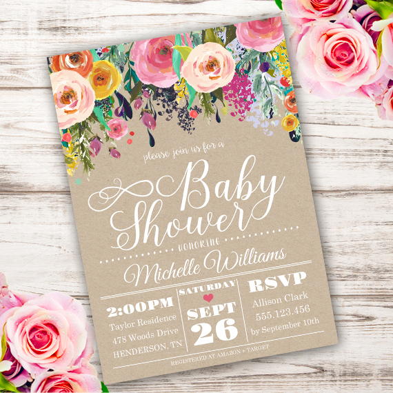 58ec607a5baed Shabby chic Baby Shower Invitation Template – Edit with Adobe Reader