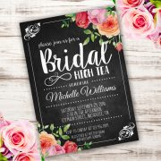bridal high tea invitation