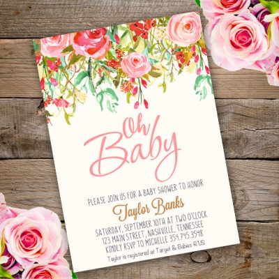 Baby shower invitation Oh Baby