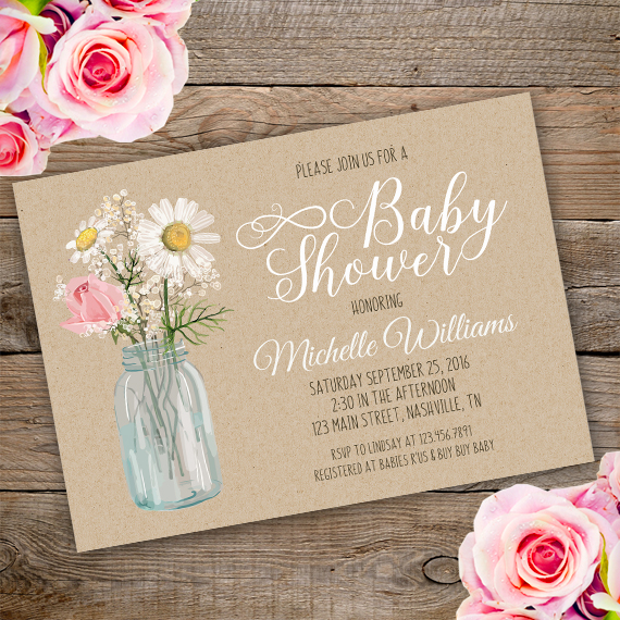 Country Baby Shower Invitation Howtoeditmypdf