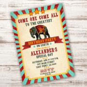 invitation circus carnival party