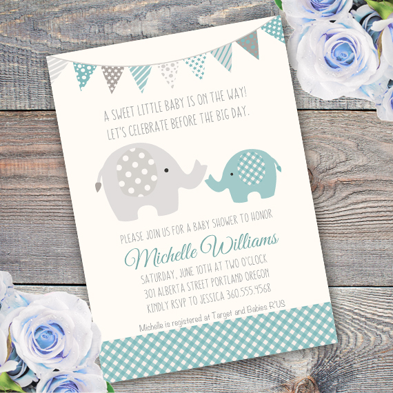 Elephant invitation