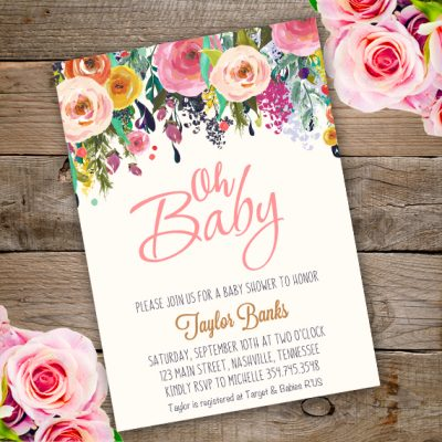 invitations baby showers oh