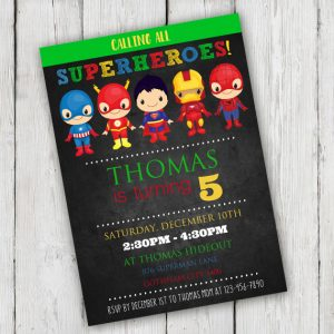 Superhero Birthday Party Invitation Template Edit With Adobe - Birthday invitation template superhero