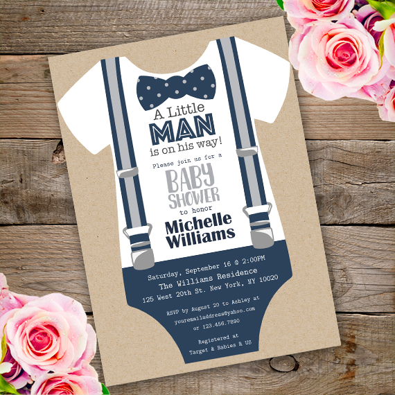 Onesie Baby Shower Invitation Template Edit With Adobe