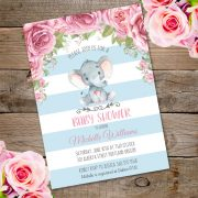 elephant baby invite for shower