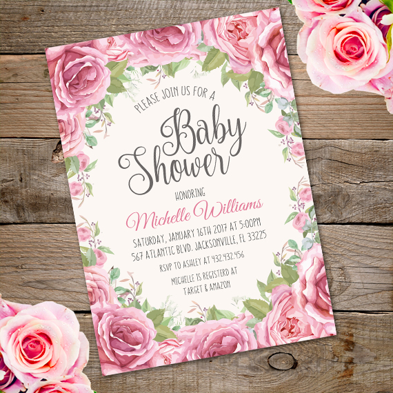 vintage baby shower invitation template edit with adobe