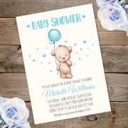 Tedy bear baby shower invite