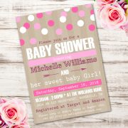 girl baby shower inviteT