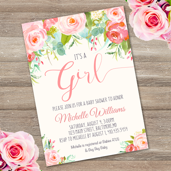 It is a girl baby shower invitation templateparty printables peach baby shower invitation template edit with adobe reader baby filmwisefo