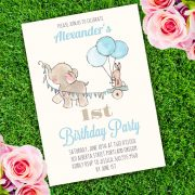 Elephant Birthday Party Invitation Template