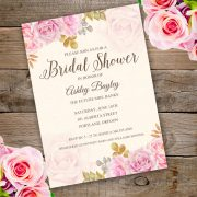 Whimsical Floral Bridal Shower Invitation Template