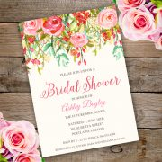 Watercolor baby shower invitation Template