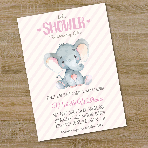 baby shower invitations that can be edited elephant baby shower invitation printable edit with 13550